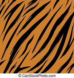 Seamless texture tiger skins. Pattern. Eps 10.
