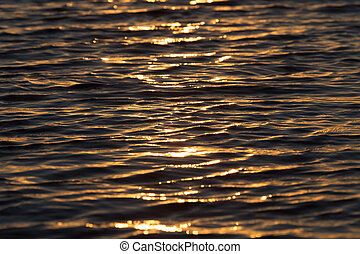 seamless texture warm color shining sunset water surface