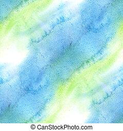 seamless texture watercolor blue green handmade background wallpaper