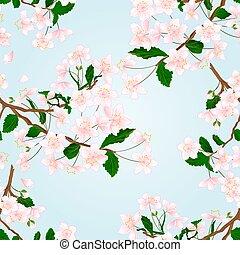 Seamless texture Wild Cherry vector