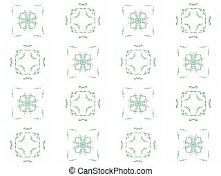 Seamless texture with 3D rendering abstract fractal green pattern