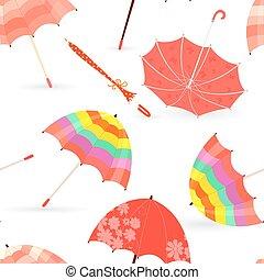 seamless texture with autumn umbrellas