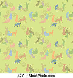 seamless texture with cats