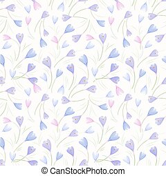 seamless texture with crocuses