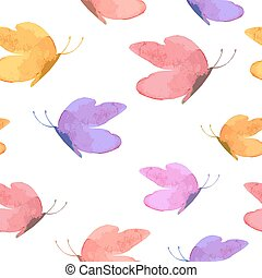 seamless texture with cute butterflies for your design. vector i