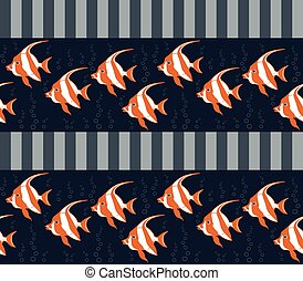 Seamless texture with fishes.