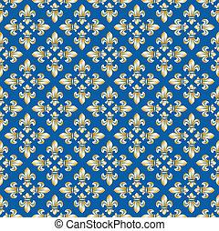 Seamless texture with fleur-de-lis