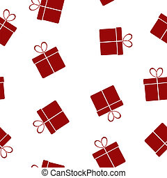 Seamless texture with gifts