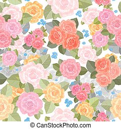 seamless texture with lovely of roses for your design.