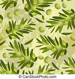 Seamless texture with olive