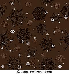 Seamless texture with snowflakes.