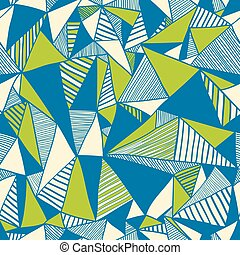 Seamless texture with triangles, mosaic endless pattern.