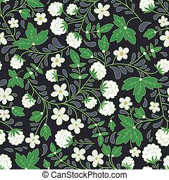 white blackberry - seamless texture with white berries. dark...