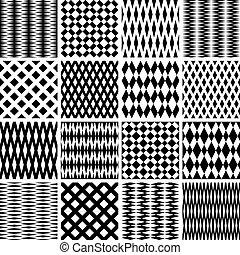 Seamless textures set. Vector art. - Geometric textures....