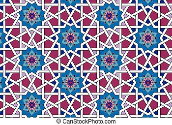 seamless thai islamic pattern