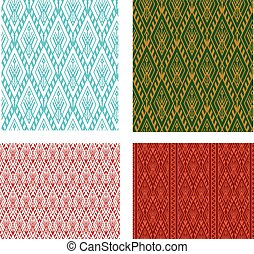 Seamless Thai tribal pattern in vector