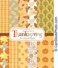 Seamless thanksgiving backgrounds