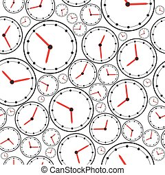 Seamless the clock pattern for background. Vector
