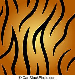 Seamless tiger fell vector pattern.