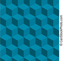 A seamless tilable blue isometric cube pattern. Designed to look at its best when tiled