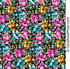 Seamless tile able floral pattern textile and fashion background