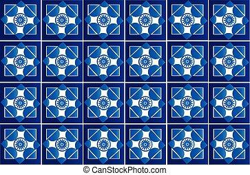 Seamless tile flower pattern vector