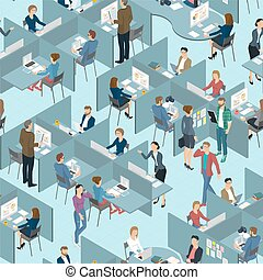 Seamless tile of people in the office office.