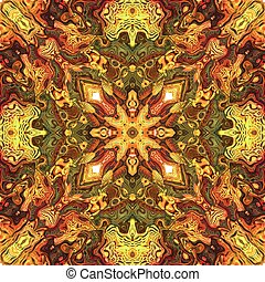 Seamless tile pattern in vivid warm colors