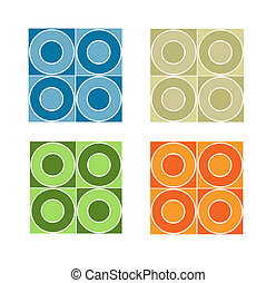 Seamless tile pattern with coloured circles