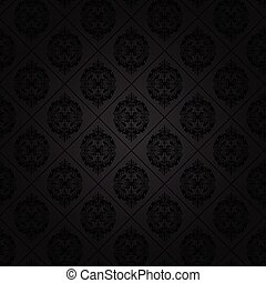 Seamless tile background of a damask style antique wallpaper