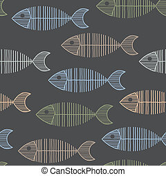 Seamless Tile With 50s Retro Fish Bone Pattern - Seamless...