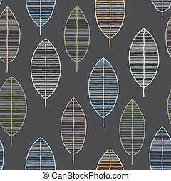 Seamless Tile With 50s Retro Leaf Pattern - Seamless tile...