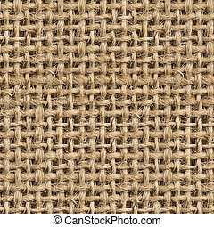 Seamless (Tileable) Fabric Jute Texture Pattern Closeup