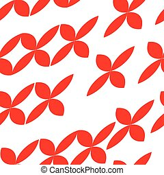 seamless tileable pattern with abstract red shapes