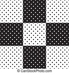 Seamless Tiles, Black and White - Polka dot seamless...