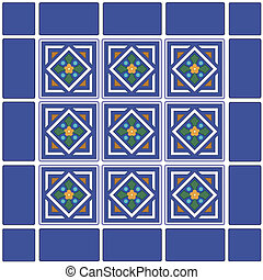 Seamless Tiles, Mexican Ceramic - Traditional Mexican...