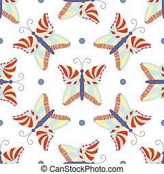 Seamless tiling butterfly pattern