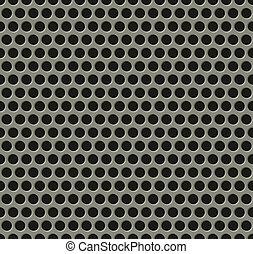 Seamless tiling metal grill pattern