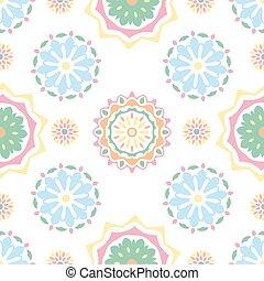 Seamless tiling texture with mandalas