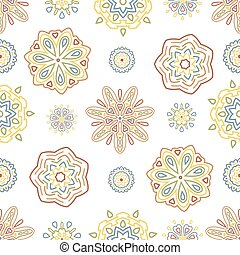 Seamless tiling texture with ornamental pattern