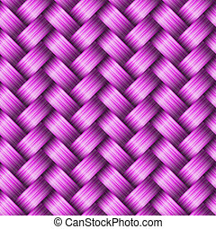 Seamless tiling wicker texture, vector illustration