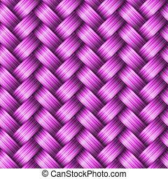 Seamless tiling wicker texture, vector illustration
