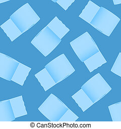 seamless toilet paper pattern on a blue background. 3d illustration
