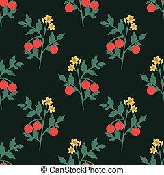 Seamless tomatoes pattern