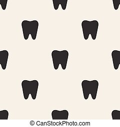 seamless tooth pattern background