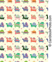 seamless tortoise pattern  - seamless tortoise pattern
