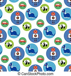Seamless toys pattern for kids.