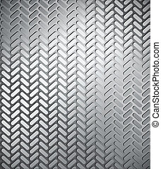 Seamless trace of the tyre. Vector