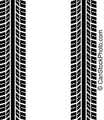 seamless trace of the tyres