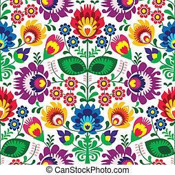Seamless traditional floral pattern